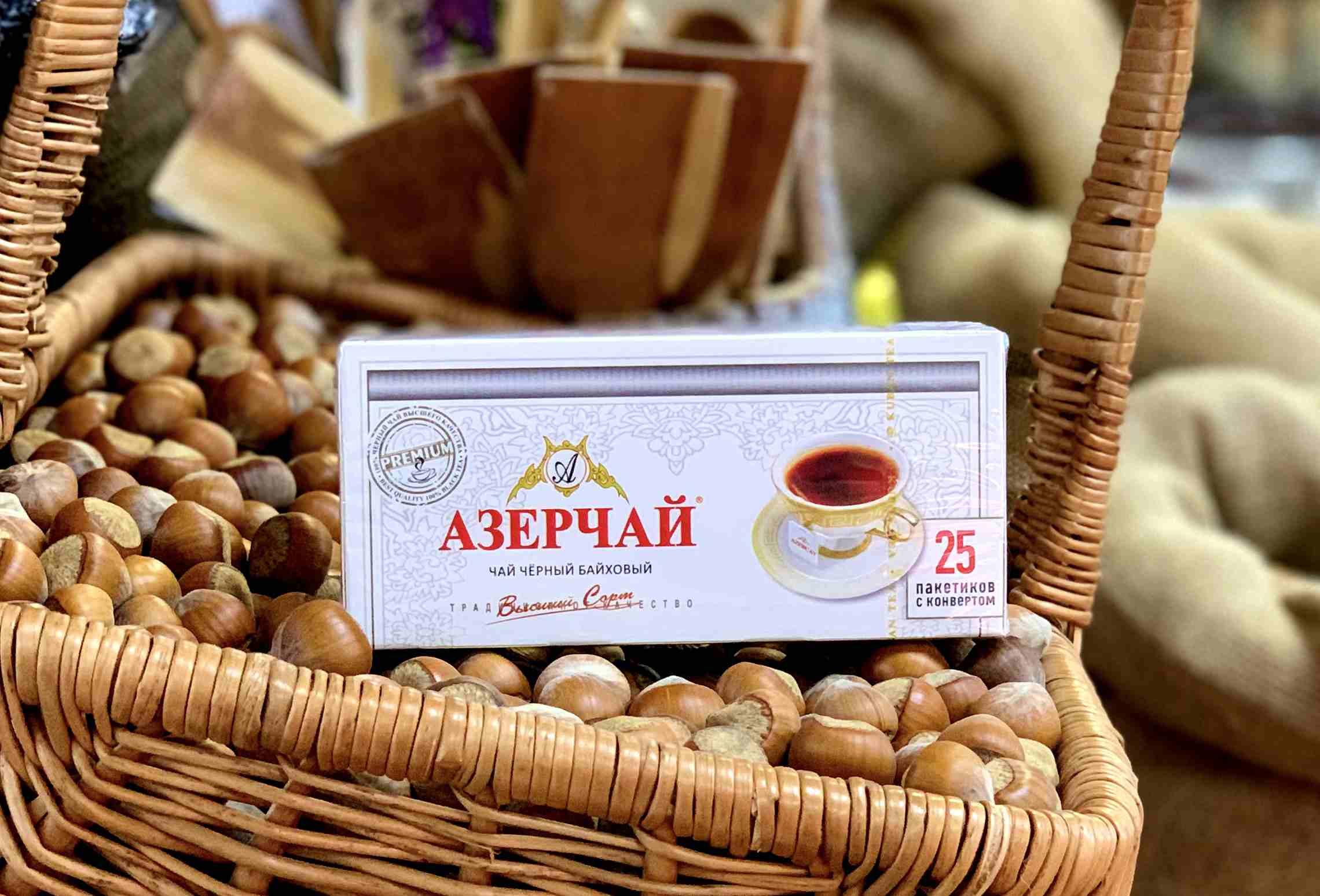 Азерчай 25 пакетов черный Премиум