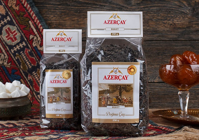 """Азерчай черный """"Букет"""" (пакет) 1000 гр."""