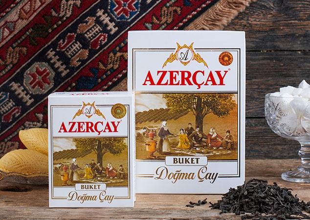 """Азерчай черный """"Букет"""" листовой 400 гр."""