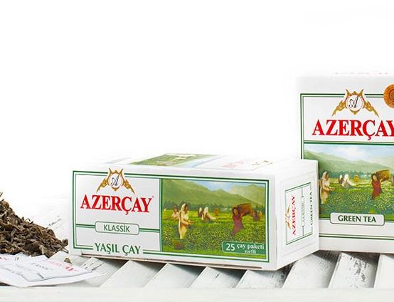 Азерчай зеленый 25 пак Классический