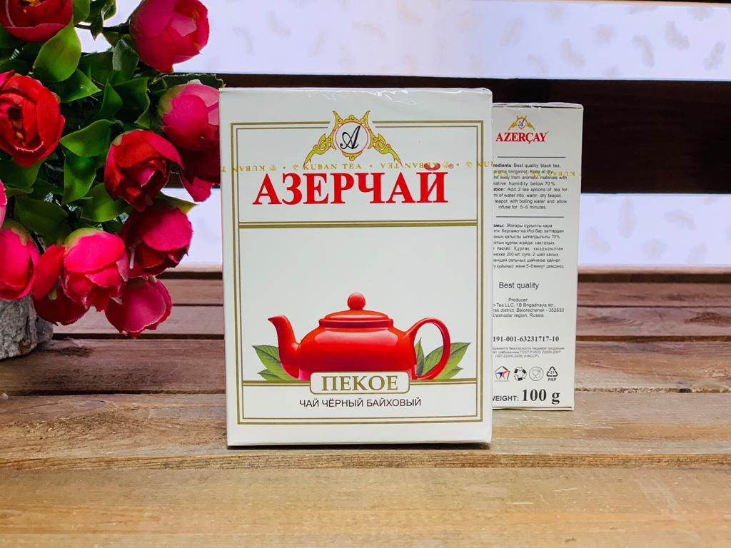 """Азерчай черный листовой """"Пекое"""" 100 гр."""
