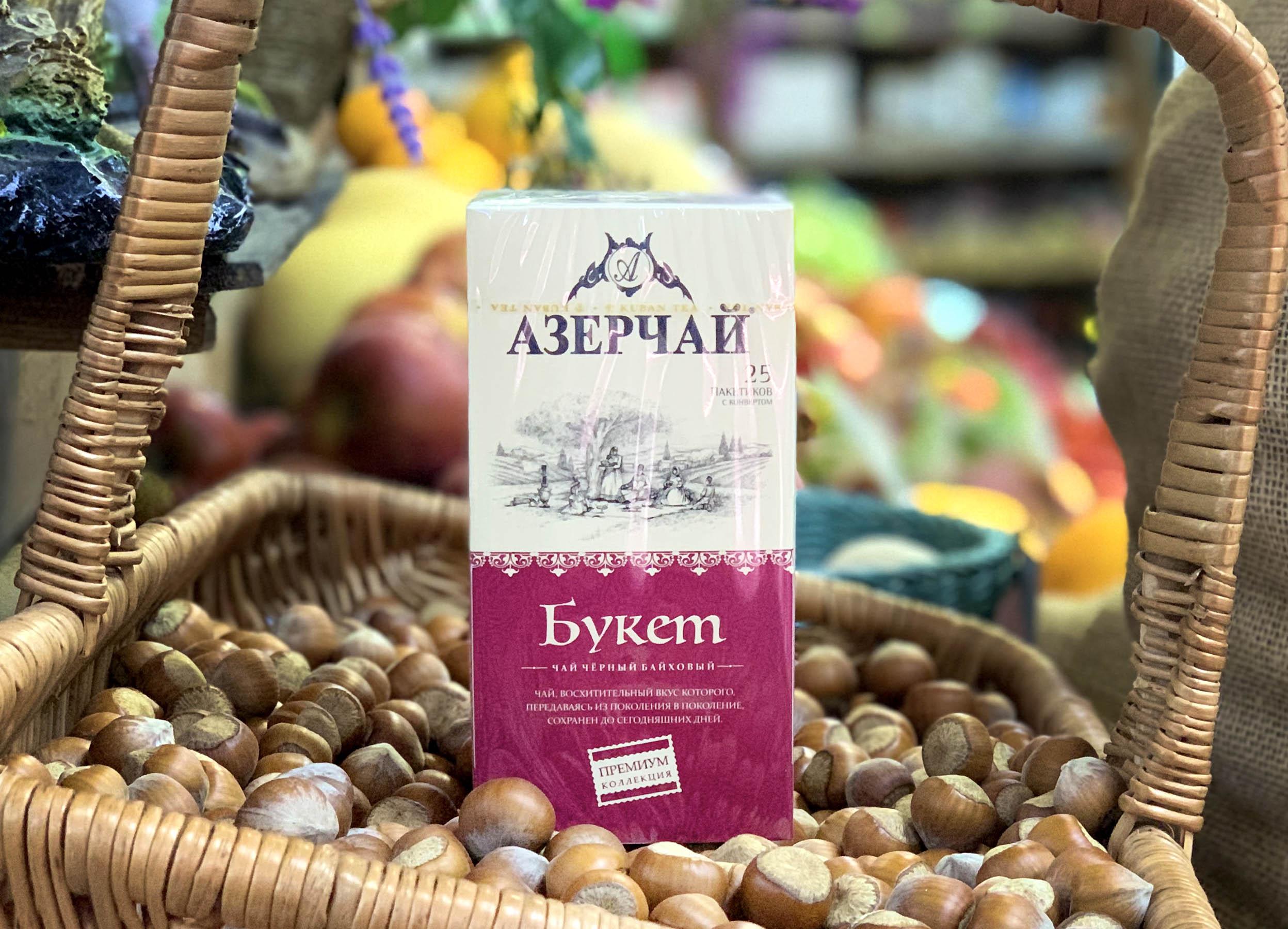 Азерчай Premium коллекция Букет, 25 пакетов