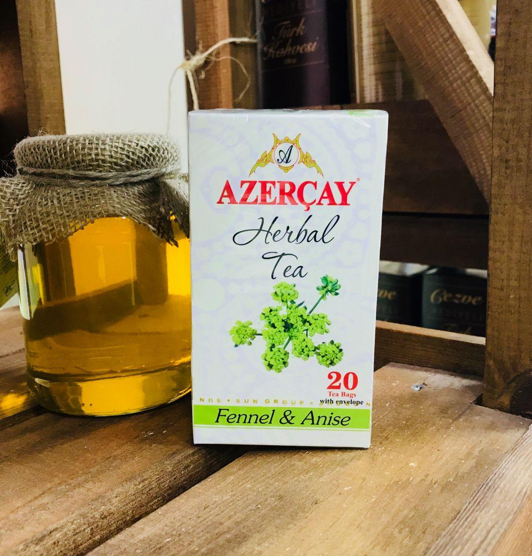 Азерчай травяной Фенхель Анис 20 пакетов