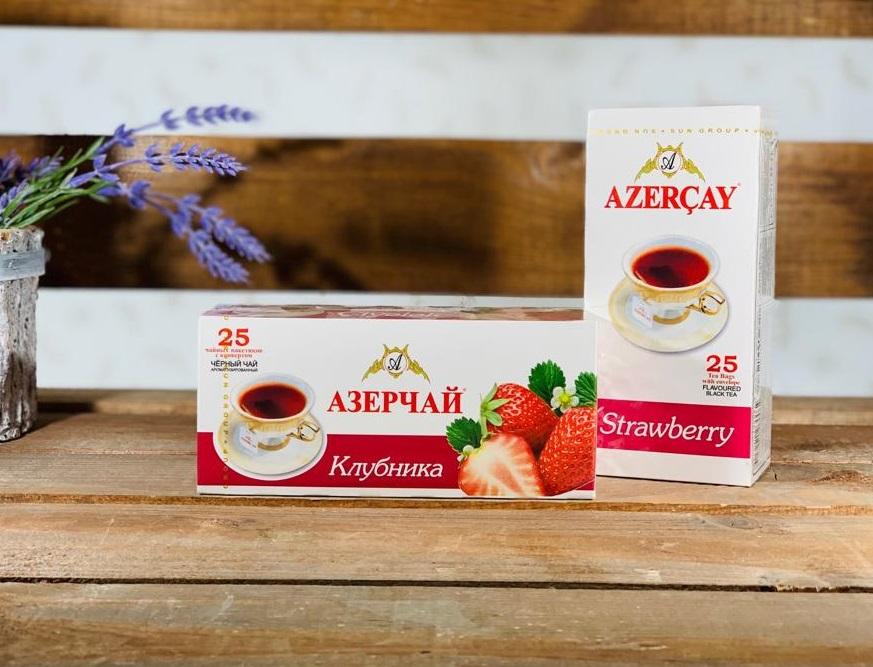 Азерчай Клубника 25 пакетов