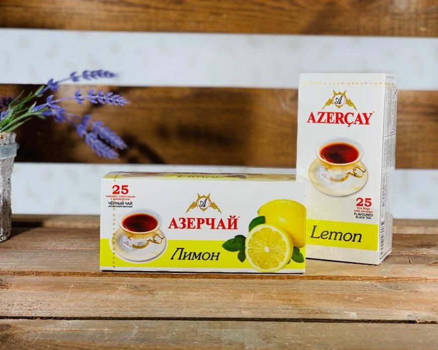 Азерчай Лимон 25 пакетов